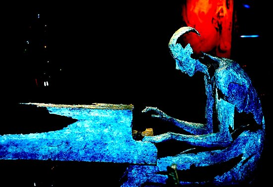 Blue Piano by nadinecreates