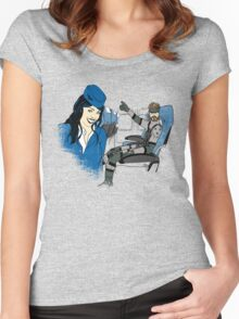 Snake on a plane Women's Fitted Scoop T-Shirt