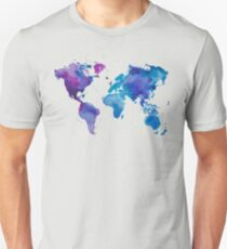 Watercolor Map of the World Unisex T-Shirt