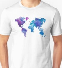 Watercolor Map of the World T-Shirt