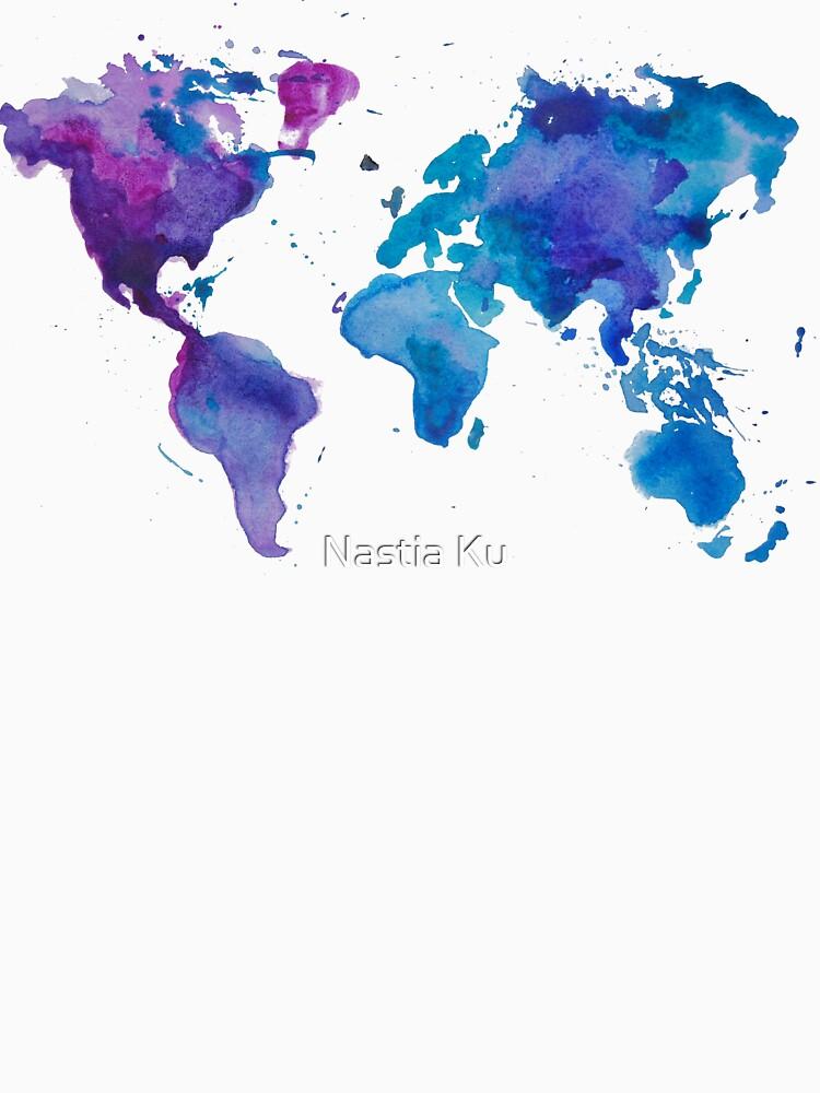 Aquarell Karte der Welt von ychty