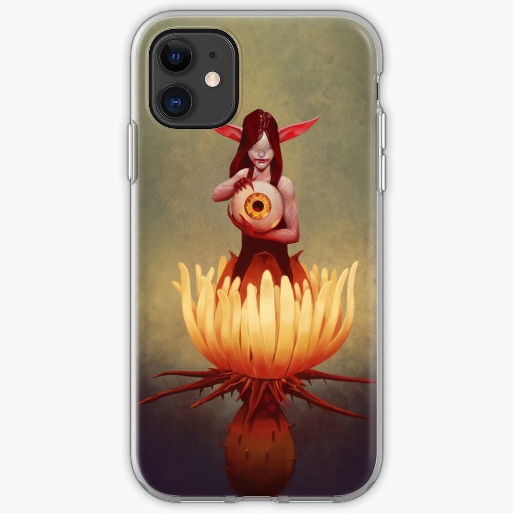 Thistle Fairy | Digital Illustration iPhone Case & Cover