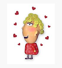silly lady in love Photographic Print