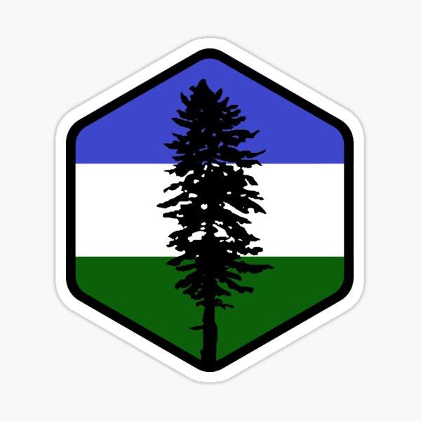 Cascadia Hex Sticker