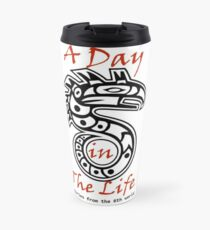 A Day in the Life: Stories from the 6th World Logo-Large Travel Mug