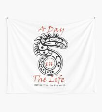 A Day in the Life: Stories from the 6th World Logo-Large Wall Tapestry