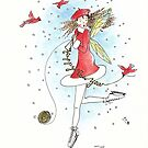 Happy New Year (red) - The Knittington Fairies by LeisureLane1