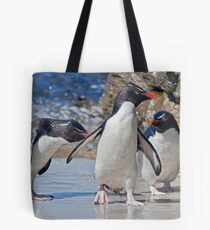The Rocky Horror Show (Rockhopper Penguins, Falklands) Tote Bag