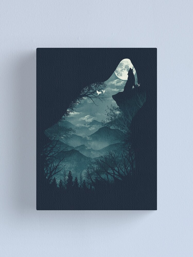 Alternate view of Hungry Wolf Canvas Print