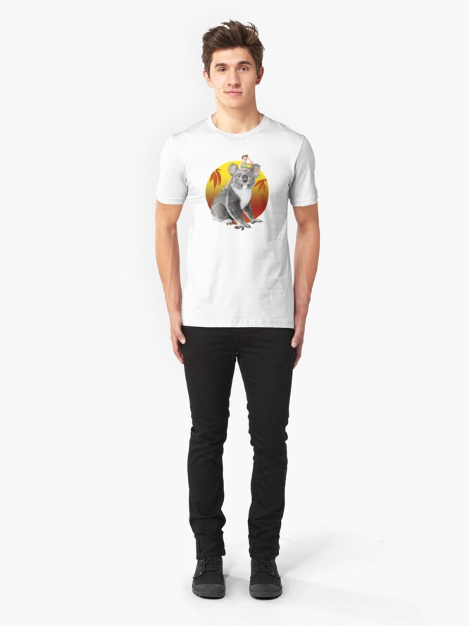 Alternate view of Koala-ity View | Digital Illustration Slim Fit T-Shirt