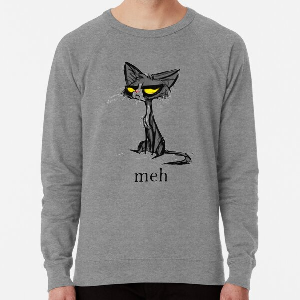 Siamese Cat Meh Lightweight Sweatshirt