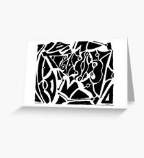 019 - ABSTRACT DESIGN - DAVE EDWARDS - FELT-TIP PEN - 1967 Greeting Card