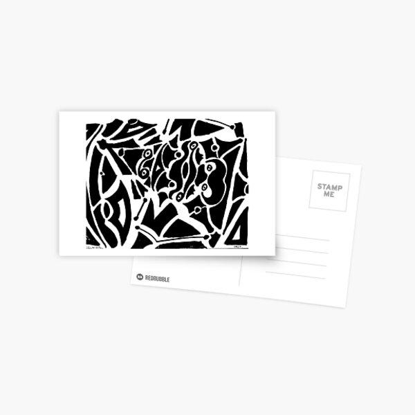 019 - ABSTRACT DESIGN - DAVE EDWARDS - FELT-TIP PEN - 1967 Postcard