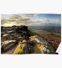 Baslow Edge Derbyshire Poster
