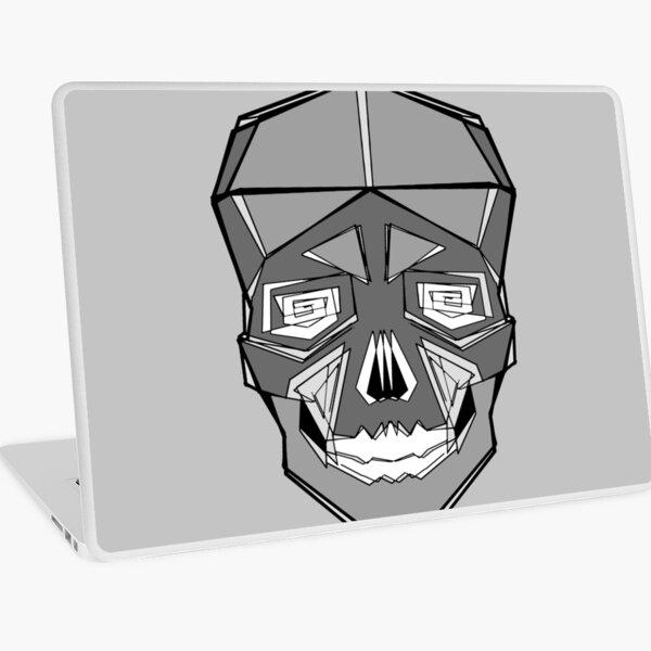 Lined Skull - Grey Laptop Skin