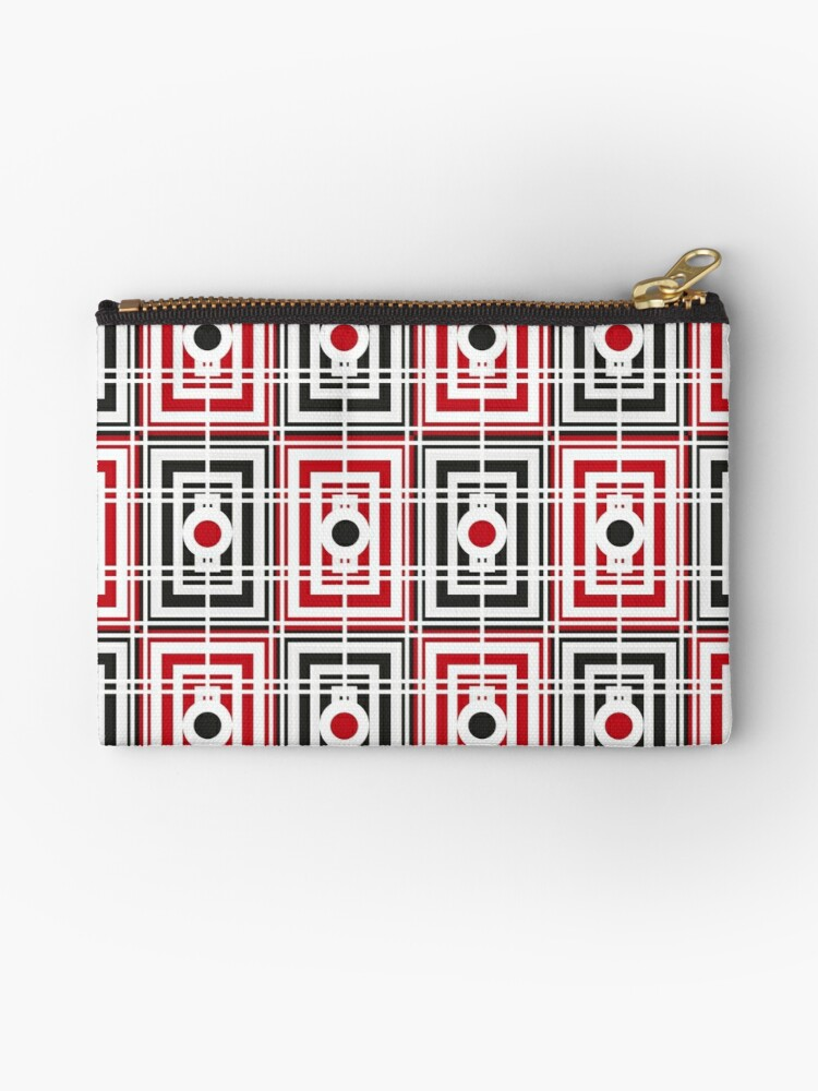 Trippy red & black squared pattern 2 by geum