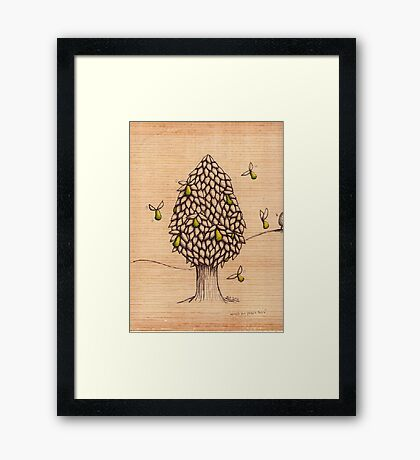 Wings on Pears Tree (Sold on Ebay) Framed Print