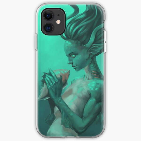 Mermaid with Shell  iPhone Soft Case