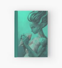 Mermaid with Shell | Digital Illustration Hardcover Journal