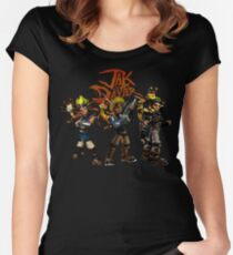 Jak and Daxter Women's Fitted Scoop T-Shirt
