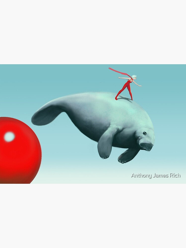 Manatee Rider   Digital Illustration by AJRart