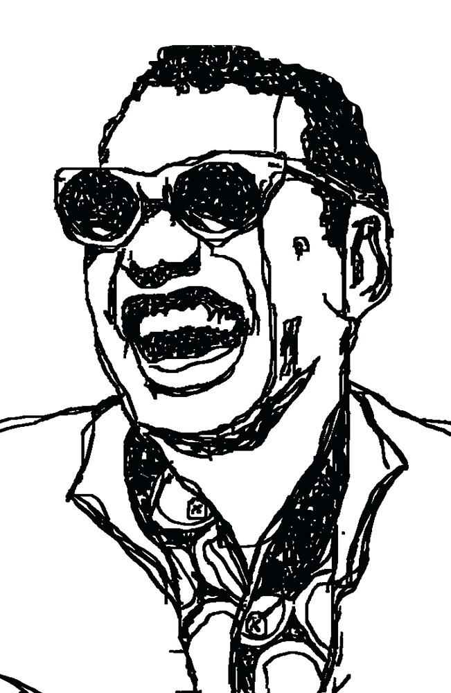 "Raymond Charles Robinson alias ""Ray Charles"" by YARAY"