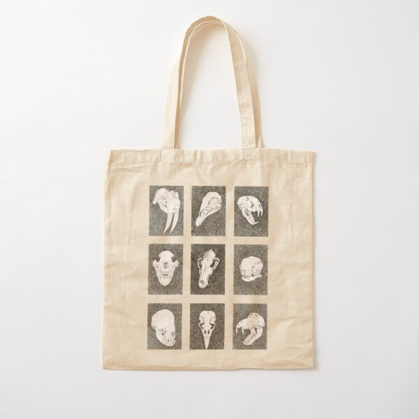 Animal Skull Ink Drawings Cotton Tote Bag