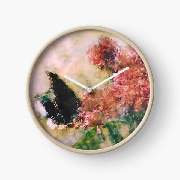 The Mourning Butterfly  Clock