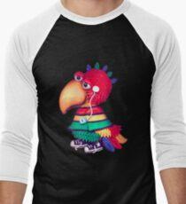 rasta parrot Men's Baseball ¾ T-Shirt