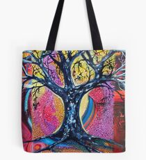 'Tree in an Abstract Landscape' Tote Bag