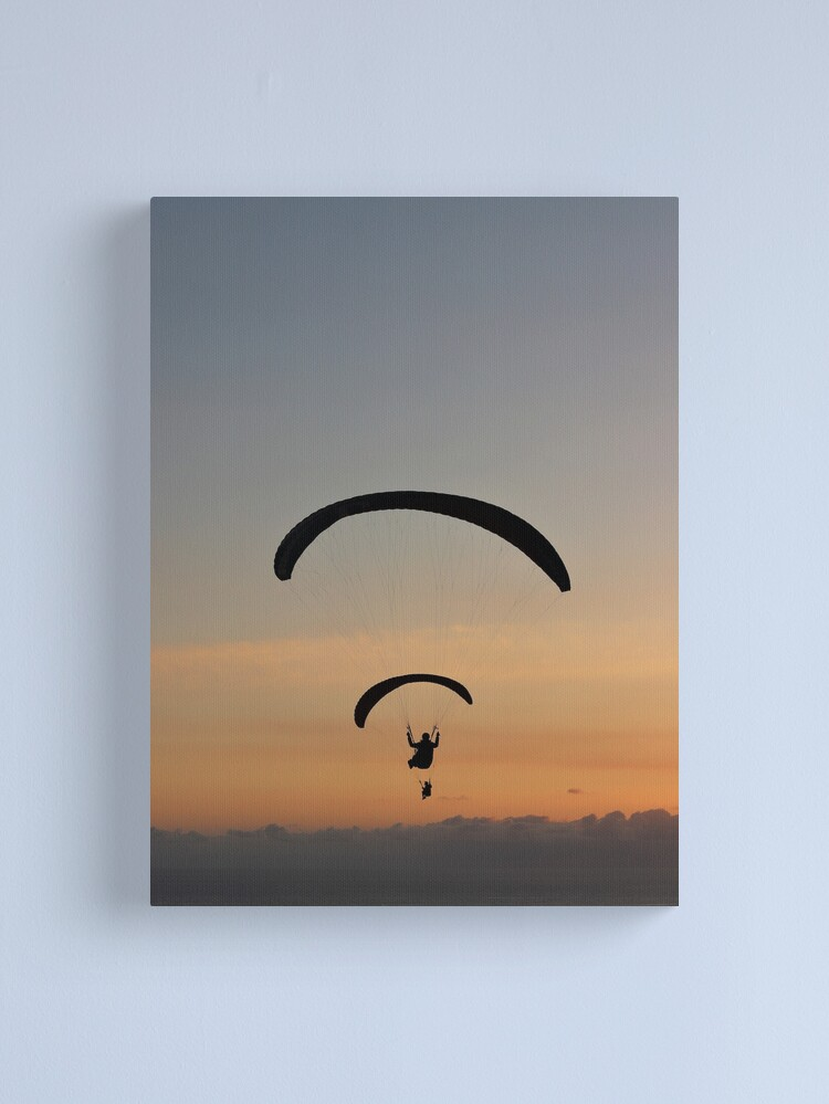 Alternate view of Sunset paragliding  Canvas Print