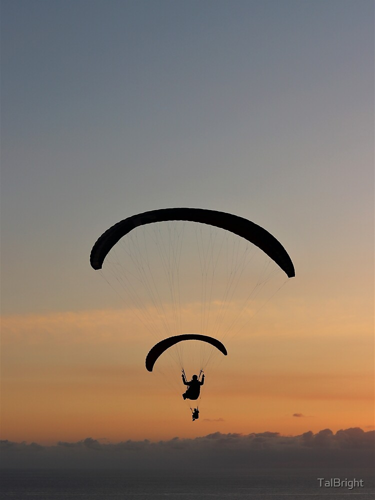 Sunset paragliding  by TalBright