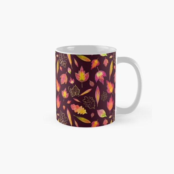 Golden autumn: leaf pattern Classic Mug