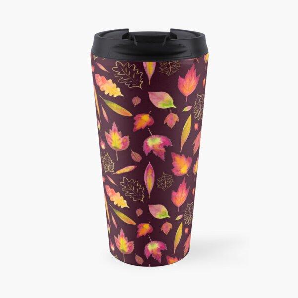 Golden autumn: leaf pattern Travel Mug