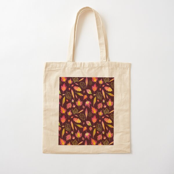 Golden autumn: leaf pattern Cotton Tote Bag