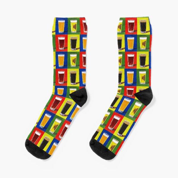 Andy Warhol Beer Pints Socks