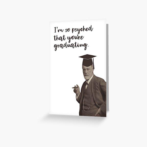 Funny Sigmund Freud Graduation Greeting Card