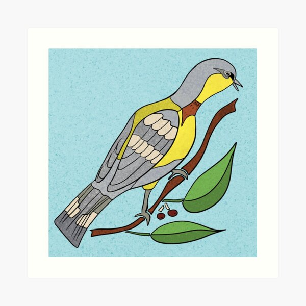 Yellow Bird Parula Warbler Songbird 5 of 9 Art Print