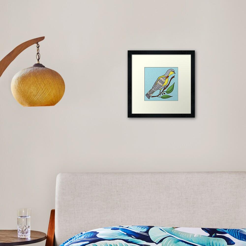 Yellow Bird Parula Warbler Songbird 5 of 9 Framed Art Print
