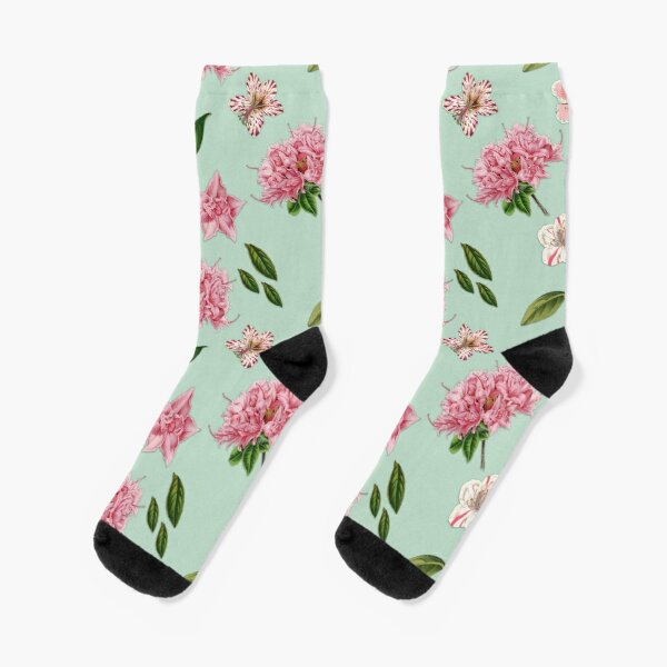 Sunflowers Bouquet Flowers Polka Dot Whimsical Original Folk Art Socks Mens Womens Casual Socks Custom Creative Crew Socks