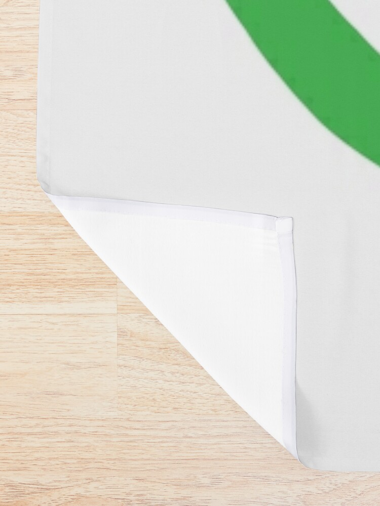 Alternate view of LL White Badge Shower Curtain