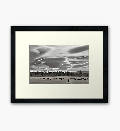 Cloud formations near Sisters Oregon Framed Print