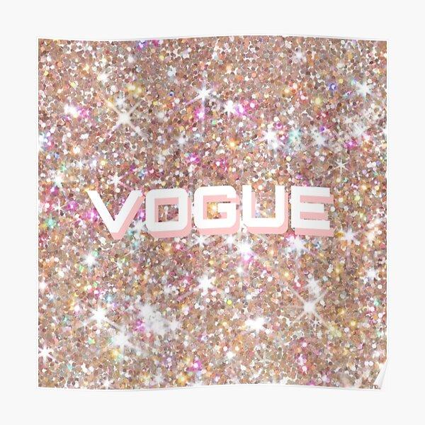 rose gold glitter vogue Poster