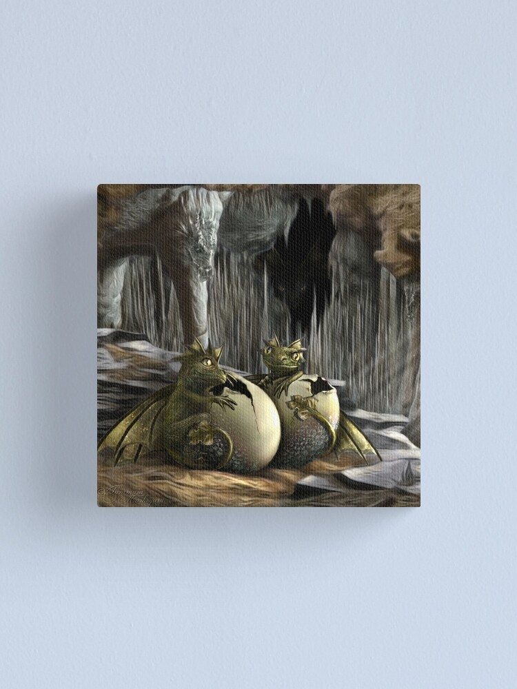 Alternate view of Dragon Hatchlings Canvas Print