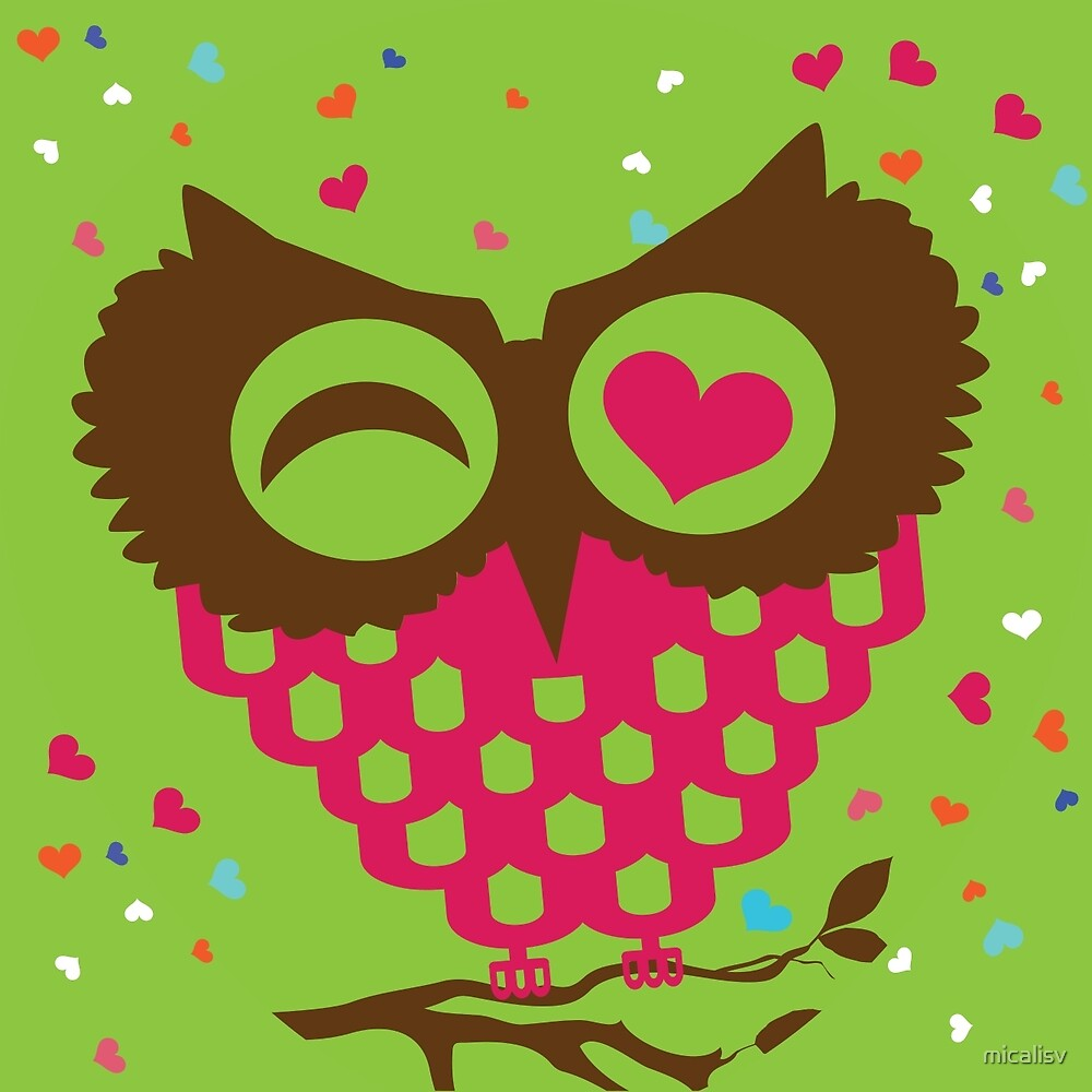 Love Owl Green by micalisv