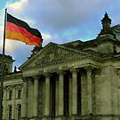 German Flag with Reichstag by Martin Virveste