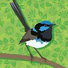 Fairy Wren Bird by blueidesign