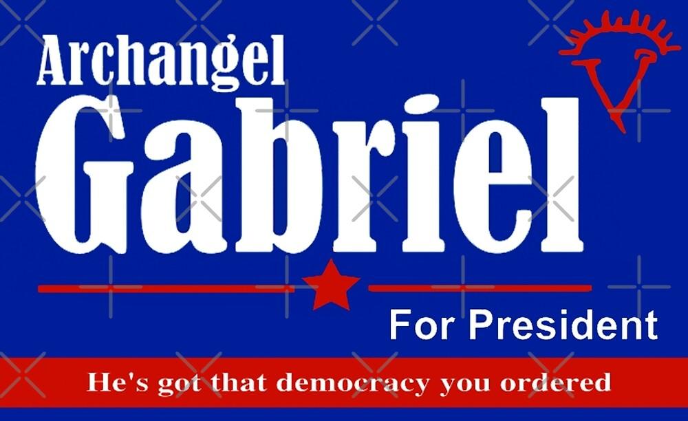 Archangel Gabriel for President by MistyFigs