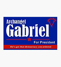 Archangel Gabriel for President Photographic Print