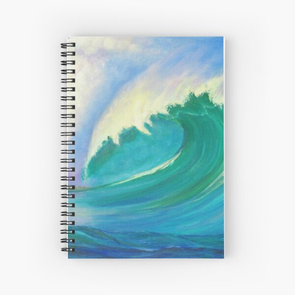 Wave Power Spiral Notebook